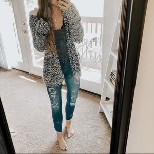 Absolutely Famous Sherpa Teddy Hoodie Cardigan